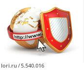 Купить «Золотой глобус и щит», иллюстрация № 5540016 (c) Maksym Yemelyanov / Фотобанк Лори