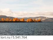 Осеннее утро на Волге (2013 год). Стоковое фото, фотограф Сергей Хрушков / Фотобанк Лори