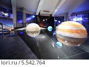 Купить «Модель Солнечной системы в Планетарии. Москва», фото № 5542764, снято 15 июня 2012 г. (c) Losevsky Pavel / Фотобанк Лори