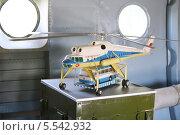 Купить «Модель большегрузного вертолета Ми-10 в музее вертолетного завод имени Миля, 2 августа 2012 года в Москве, Россия», фото № 5542932, снято 2 августа 2012 г. (c) Losevsky Pavel / Фотобанк Лори