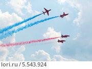Купить «Британские военные самолеты на авиашоу в честь 100-летия российских военно-воздушных сил, г. Жуковский, Московская область, Россия», фото № 5543924, снято 12 августа 2012 г. (c) Losevsky Pavel / Фотобанк Лори