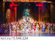 Купить «Новогоднее представление  на сцене в Культурном центре ЗИЛ», фото № 5544224, снято 30 декабря 2012 г. (c) Losevsky Pavel / Фотобанк Лори