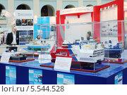 Купить «Модели кораблей для геологической разведки на Конференции морской промышленности России - 2012 в Гостином Дворе, 23 мая 2012 года в Москве, Россия», фото № 5544528, снято 23 мая 2012 г. (c) Losevsky Pavel / Фотобанк Лори