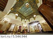 Лобби отеля Hilton Moscow Leningradskaya, Москва (2012 год). Редакционное фото, фотограф Losevsky Pavel / Фотобанк Лори
