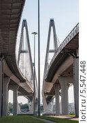 Вантовый мост (2013 год). Стоковое фото, фотограф Юля С. / Фотобанк Лори
