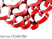 Купить «Сердечки из ленточек», фото № 5549788, снято 2 декабря 2013 г. (c) Иван Михайлов / Фотобанк Лори
