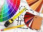 Дизайн интерьера. Цветовой коллер и чертежи, иллюстрация № 5554624 (c) Maksym Yemelyanov / Фотобанк Лори
