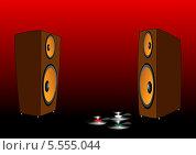 Купить «Акустическая система и пластинки», иллюстрация № 5555044 (c) Сергей Мастепанов / Фотобанк Лори