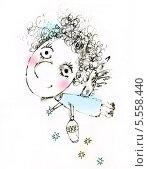 Ангел разбрасывающий звёзды. Стоковая иллюстрация, иллюстратор Инна Багаева / Фотобанк Лори