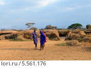 Купить «Мужчины племени Масаи, Кения», фото № 5561176, снято 23 августа 2010 г. (c) Знаменский Олег / Фотобанк Лори