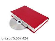 Купить «CD-диск вложен в книгу. Варианты хранения информации», эксклюзивное фото № 5567424, снято 8 февраля 2014 г. (c) Юрий Морозов / Фотобанк Лори