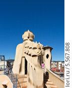 Фрагмент крыши Дома Мила. Барселона (2013 год). Редакционное фото, фотограф Сергей Якуничев / Фотобанк Лори