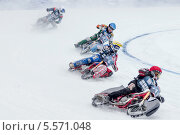 Купить «Мотогонки на льду», фото № 5571048, снято 9 февраля 2014 г. (c) Зюкалин Дмитрий Михайлович / Фотобанк Лори