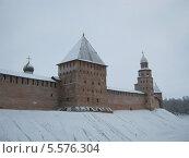 Купить «Великий Новгород. Зимний кремль», фото № 5576304, снято 26 января 2014 г. (c) Ольга Батракова / Фотобанк Лори