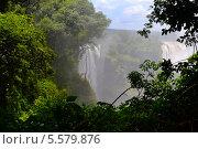 Вид на водопад Виктория. Стоковое фото, фотограф Малышев Юрий Игоревич / Фотобанк Лори