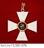 Офицерский георгиевский крест. Стоковое фото, фотограф Анна Воронова / Фотобанк Лори