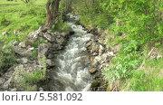 Горный ручей. Стоковое видео, видеограф Липунов Леван / Фотобанк Лори