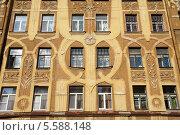 Фасад дома на набережной реки Пряжки, Санкт-Петербург. Стоковое фото, фотограф Евгений Устинов / Фотобанк Лори