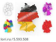 Купить «Цветные объёмные карты Германии», иллюстрация № 5593508 (c) Maksym Yemelyanov / Фотобанк Лори