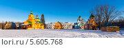 Купить «Свято-Благовещенская Никандрова пустынь. Псковская область», эксклюзивное фото № 5605768, снято 27 января 2014 г. (c) Сергей Лаврентьев / Фотобанк Лори