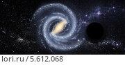 Купить «Черная дыра в космическом пространстве», иллюстрация № 5612068 (c) Наталья Спиридонова / Фотобанк Лори