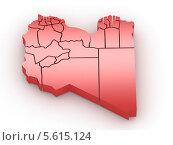 Купить «Трехмерная красная карта Австралии. 3d-изображение на белом фоне», иллюстрация № 5615124 (c) Maksym Yemelyanov / Фотобанк Лори