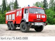 Купить «Пожарный автомобиль КамАЗ-43118», фото № 5643088, снято 24 мая 2008 г. (c) Art Konovalov / Фотобанк Лори