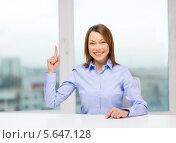 Купить «Привлекательная деловая женщина работает в современном офисе с видом на город из окна», фото № 5647128, снято 20 декабря 2013 г. (c) Syda Productions / Фотобанк Лори