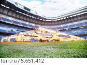 Купить «Система искусственного освещения для выращивания травы на футбольном стадионе. Сантьяго Бернабеу, Мадрид», фото № 5651412, снято 8 марта 2012 г. (c) Losevsky Pavel / Фотобанк Лори