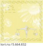 Знак зодиака Весы (стихия воздух) Стоковая иллюстрация, иллюстратор Юлия Ухина / Фотобанк Лори