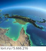 Купить «Объёмная карта земного шара, Австралия и Папуа-Новая Гвинея», иллюстрация № 5666216 (c) Антон Балаж / Фотобанк Лори