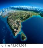 Купить «Вид на Землю из космоса. Индия и Шри-Ланка», иллюстрация № 5669064 (c) Антон Балаж / Фотобанк Лори