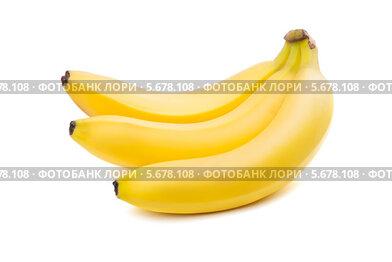 Три банана, изолированно на белом фоне