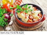 Купить «Фрикасе из курицы с овощами», фото № 5678620, снято 6 марта 2014 г. (c) Надежда Мишкова / Фотобанк Лори