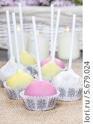 Купить «Разноцветные тортики в формочках», фото № 5679024, снято 20 марта 2019 г. (c) BE&W Photo / Фотобанк Лори