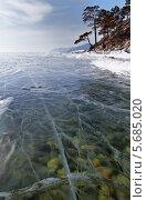 Байкал. Прозрачность почти метрового льда. Стоковое фото, фотограф Виктория Катьянова / Фотобанк Лори