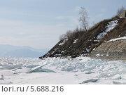 Лед на Байкале. Стоковое фото, фотограф Ева Наделяева / Фотобанк Лори