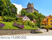 Вид на замок в  Меерсбурге, на Боденском озере. Германия (2012 год). Стоковое фото, фотограф Демчишина Ольга / Фотобанк Лори