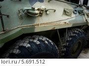 Купить «Борт армейского БМП», фото № 5691512, снято 31 июля 2011 г. (c) Георгий Хрущев / Фотобанк Лори