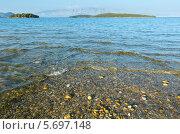 Купить «Вечерний вид на Ионическое море с пляжа. Лето. Лефкас. Греция», фото № 5697148, снято 27 июня 2012 г. (c) Юрий Брыкайло / Фотобанк Лори