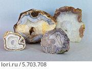 Природные рисунки на срезах минерала агата (2014 год). Редакционное фото, фотограф Виктория Катьянова / Фотобанк Лори