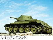 Русский танк т-34 (2014 год). Редакционное фото, фотограф Виктор Шушурин / Фотобанк Лори