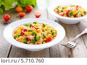 Купить «Отварной рис с овощами», фото № 5710760, снято 1 марта 2014 г. (c) Марина Славина / Фотобанк Лори