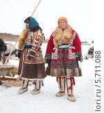 Купить «Женщины ханты на празднике оленевода», фото № 5711088, снято 14 марта 2014 г. (c) Владимир Мельников / Фотобанк Лори