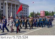 Ветераны Великой Отечественной войны на военном параде в день Победы в Одессе (2012 год). Редакционное фото, фотограф Anhelina Tarasenko / Фотобанк Лори