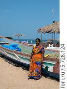 Купить «Гоа. Беременная индуска», эксклюзивное фото № 5728124, снято 18 июля 2019 г. (c) ФЕДЛОГ / Фотобанк Лори