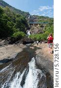 Купить «Гоа. Водопад Дудх Сагар», эксклюзивное фото № 5728156, снято 18 июля 2019 г. (c) ФЕДЛОГ / Фотобанк Лори