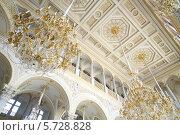 Купить «Потолок, украшенный позолотой и лепниной в музее Государственный Эрмитаж», фото № 5728828, снято 7 апреля 2013 г. (c) Losevsky Pavel / Фотобанк Лори