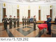 Купить «Солдаты принимают присягу в музее на Поклонной горе», фото № 5729292, снято 19 мая 2013 г. (c) Losevsky Pavel / Фотобанк Лори