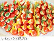 Фаршированные помидоры. Стоковое фото, фотограф Losevsky Pavel / Фотобанк Лори